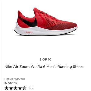 NIKE AIR ZOOM WINFLO 6 MENS RUNNING SHOES 👟